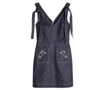 Besticktes Kleid aus Denim