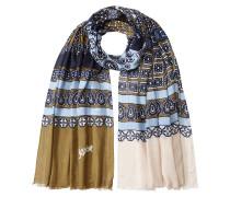 Print-Schal mit Kaschmir