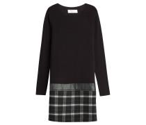 Kleid aus Stretch-Jersey und Wolle