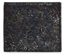 Portemonnaie aus Leder mit Metallic-Finish