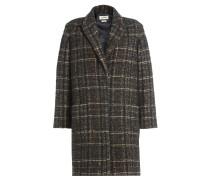 Karierter Mantel mit Wolle und Alpaka