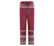 Wide-Leg-Pants aus Seide und Baumwolle mit Perlen