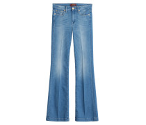 Flared-Pants aus Baumwolle