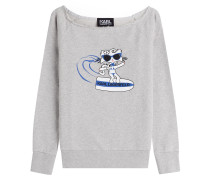 Sweatshirt Choupette on the Beach aus Baumwolle