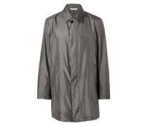 Taupe Silk Caban Jacket
