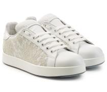 Leder-Sneakers mit Spitze
