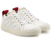 Sneakers aus gestepptem Leder