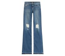 Flared-Jeans mit Distressed-Effekten