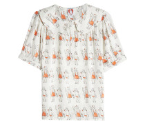 Bluse aus Seide mit Print