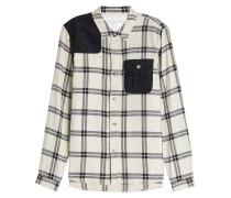 Kariertes Hemd aus Baumwolle mit Cord-Details