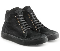 High Top Sneakers aus Veloursleder