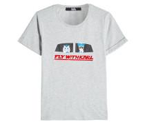 T-Shirt Fly With Karl aus Baumwolle mit Print