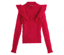 Pullover aus Mohair mit Stehkragen