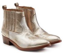 Cowboy-Boots aus Leder im Metallic-Look