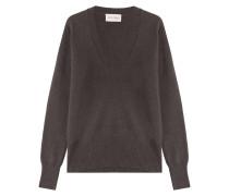 V-Neck-Pullover mit Angora und Wolle