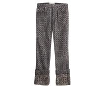 7/8-Pants im Metallic-Look