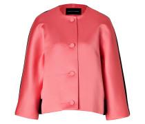 Satin/Wool Felt Jacket in Pink/Black