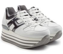 Plateau-Sneakers aus Leder