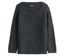 Gestrickter Pullover mit Metallic-Fasern