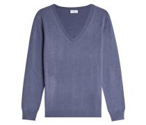 V-Pullover mit Kaschmir und Wolle