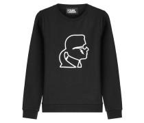 Statement-Sweatshirt Karl aus Baumwolle