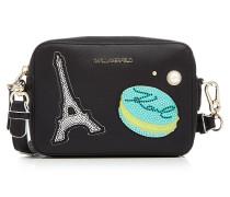 Camera Bag K/Paris aus Leder mit Applikationen