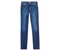 Straight Leg Jeans Roxanne aus Baumwoll-Stretch