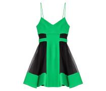 Flared-Dress im Two-Tone-Look mit Mesh