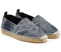 Espadrilles aus Leinen und Baumwolle mit Paisley-Muster