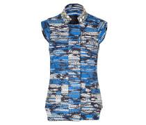 Blue-Multi Embroidered Vest
