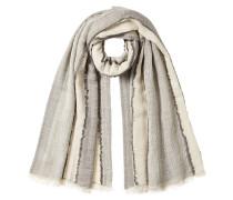 Gestreifter Schal aus Baumwolle und Wolle
