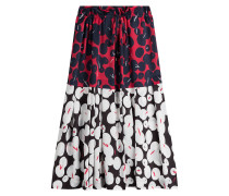 High-Waist-Skirt mit Print