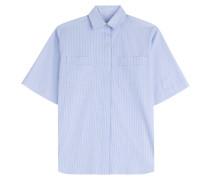 Gestreifte Boxy-Bluse aus Baumwolle