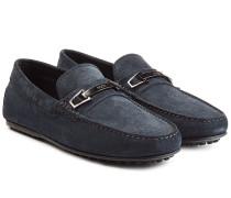 Loafers aus Veloursleder mit Schnalle