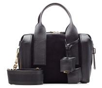 Duffle-Bag Small aus Leder und Veloursleder