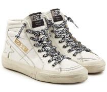 High Top Sneakers Slide aus Leder