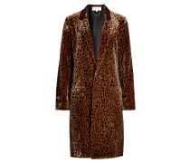 Bedruckter Mantel mit Seide