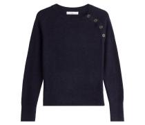 Alpaka-Pullover mit Zierknöpfen