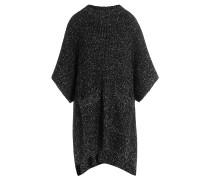 Strick-Cape mit Wolle und Mohair