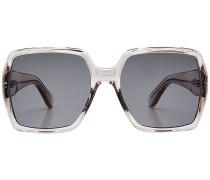 Oversized Sonnenbrille mit eckigem Rahmen