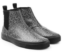 Bedruckte Chelsea-Boots aus Leder