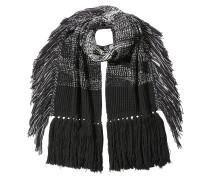 Schal aus Wolle mit Fransen