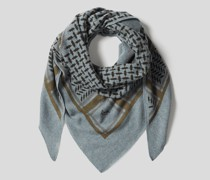 Schal mit Kufiya-Muster
