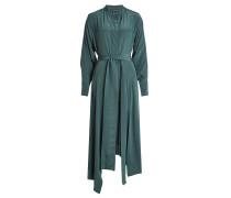 Kleid aus Seide mit Bindegürtel