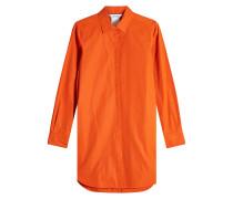 Oversized Bluse aus Baumwolle mit Schnürdetails