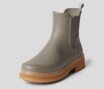 Chelsea Boots mit Brand-Detail