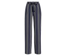 Gestreifte Wide Leg Pants Agnes aus Baumwolle
