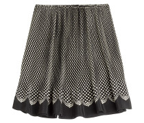 Flared-Skirt aus Seide mit Polka-Dots