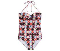 Halterneck-Swimsuit mit Print