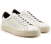Low Top Sneakers aus Leder